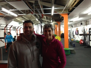 Katie and CrossFit Instructor, Lee Carnaby at CrossFit Maidenhead