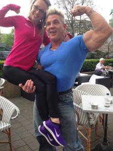 Nicki with Mr Incredible