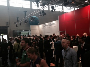 Very busy Life Fitness stand