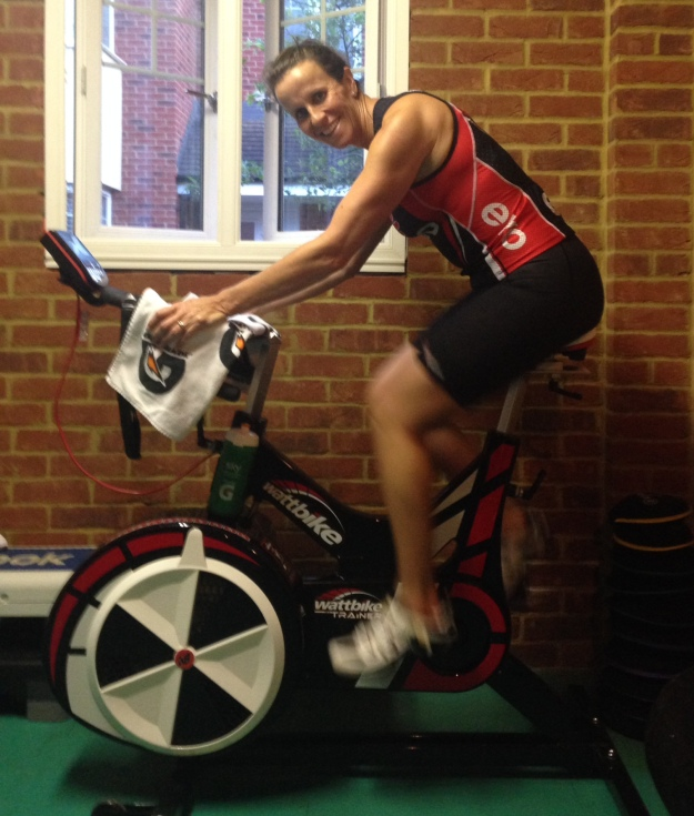 Sue tests her new Wattbike